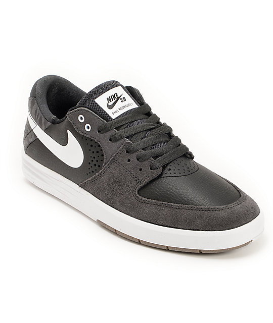 Nike SB Paul Rodriguez 7 Anthracite, Black, & White Skate ...