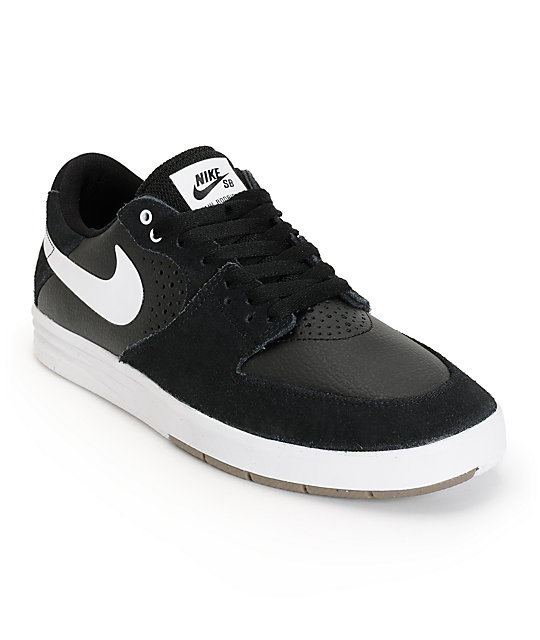 Nike SB Paul Rodriguez 7 Black & White Skate Shoes