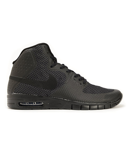 Nike SB Paul Rodriguez 7 Hyperfuse Air Max Black & Anthracite Shoes