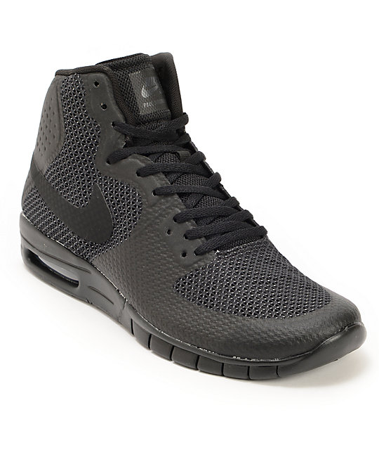 Nike SB Paul Rodriguez 7 Hyperfuse Max Black & Anthracite ...