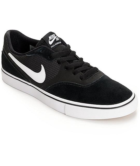 nike sb paul rodriguez 9 vr black white skate shoes zumiez. Black Bedroom Furniture Sets. Home Design Ideas