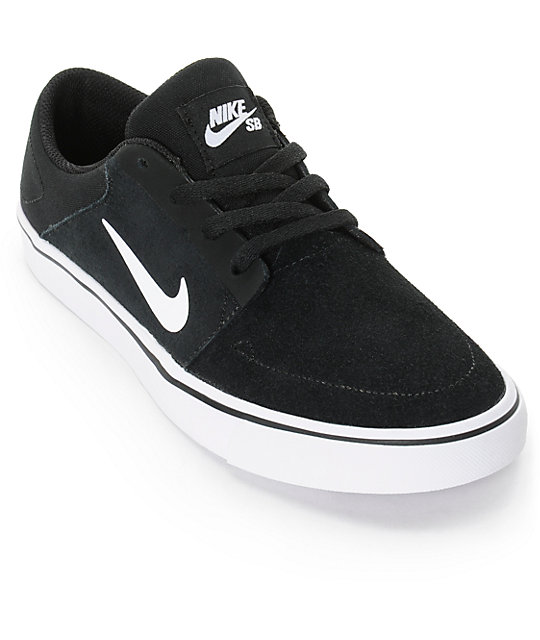 Nike SB Portmore Black & White Boys Skate Shoes