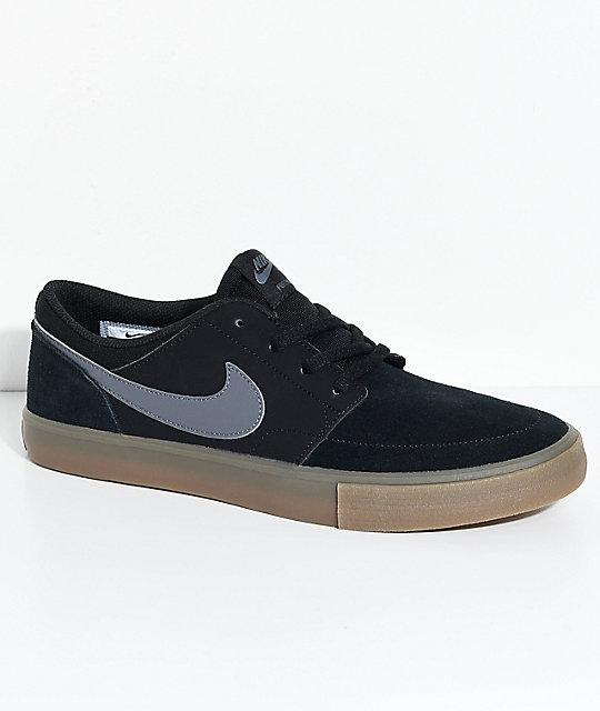 Nike SB Portmore II Black & Gum Shoes