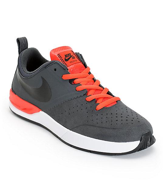 Nike SB Project BA Anthracite, Black, & Light Crimson Skate Shoes