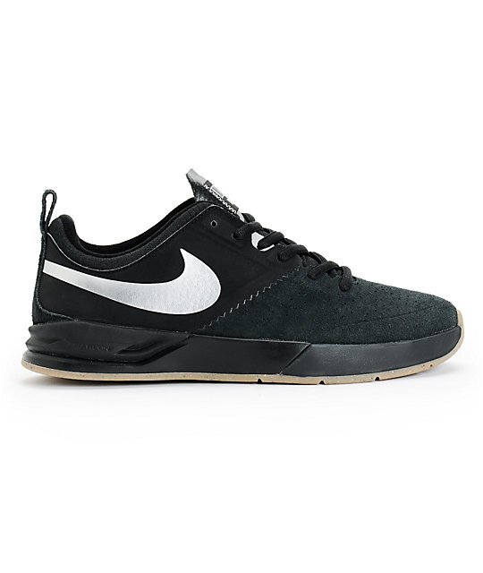 Nike SB Project BA Black, Silver, & Gum Skate Shoes