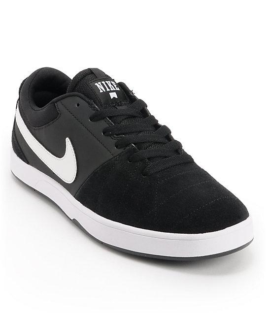 nike sb rabona black white skate shoes