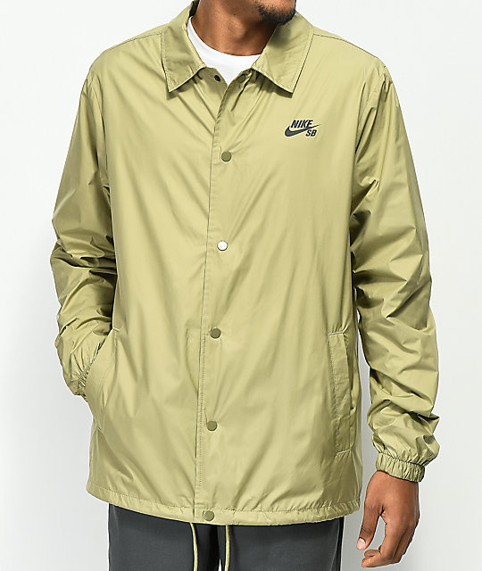 Nike Sb Shield Olive Coaches Jacket by Nike Sb