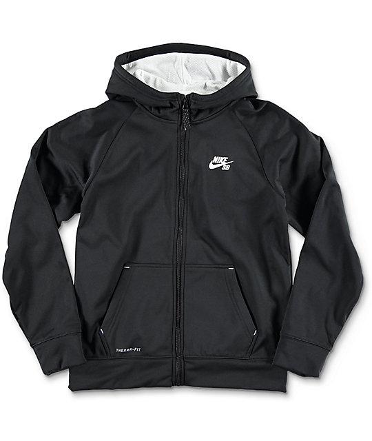Nike black zip up hoodie