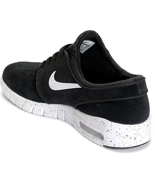 Fabuleux Nike SB Stefan Janoski Air Max Black & White Shoes | Zumiez QD48