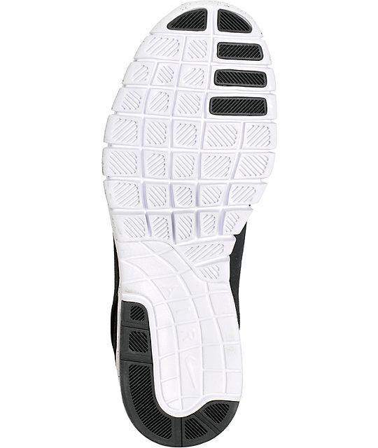 Nike SB Stefan Janoski Air Max Black & White Suede Shoes