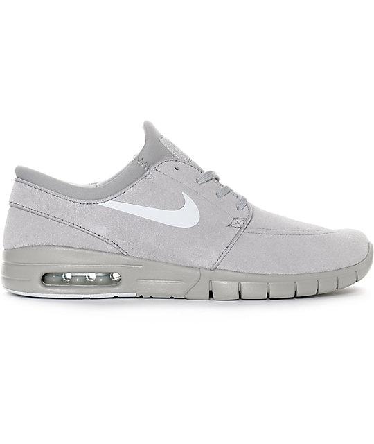 Nike SB Stefan Janoski Air Max Matte Silver & Pure Platinum Grey Shoes
