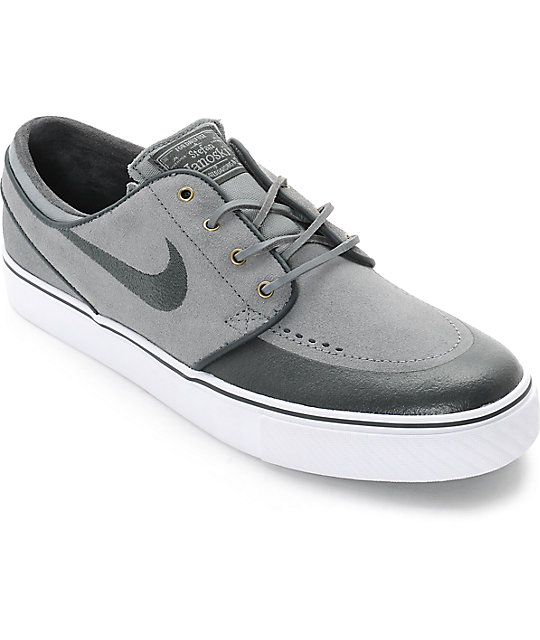 Nike SB Stefan Janoski PR SE Cool Grey & Anthracite Skate Shoes