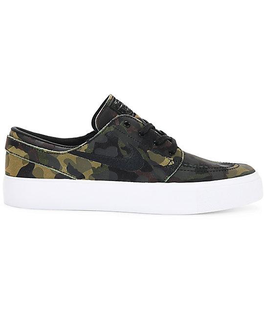 Nike SB Stefan Janoski Premium High Tape Camo & White Skate Shoes