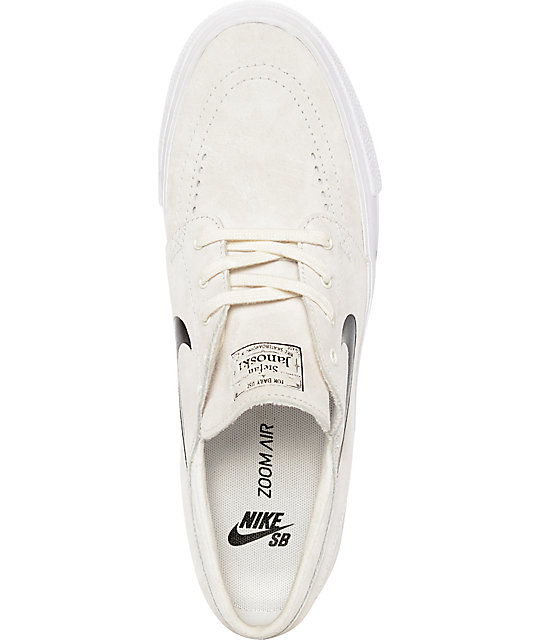 Nike SB Stefan Janoski Premium High Tape Summit White & Black Skate Shoes