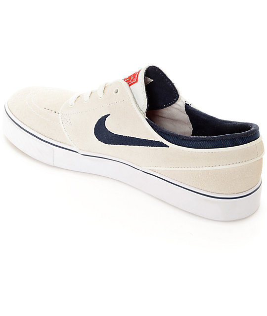 ... nike sb stefan janoski summit white obsidian skate shoes