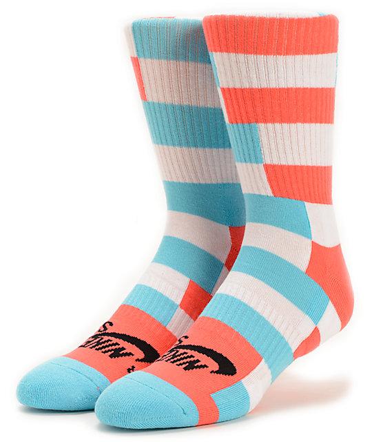 Nike SB Striped Dri-Fit Crew Socks