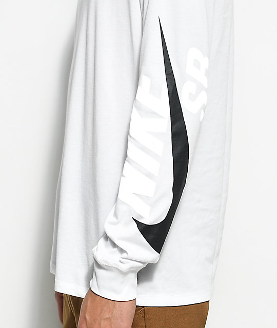 Nike SB Tonal Futura White & Black Long Sleeve T-Shirt