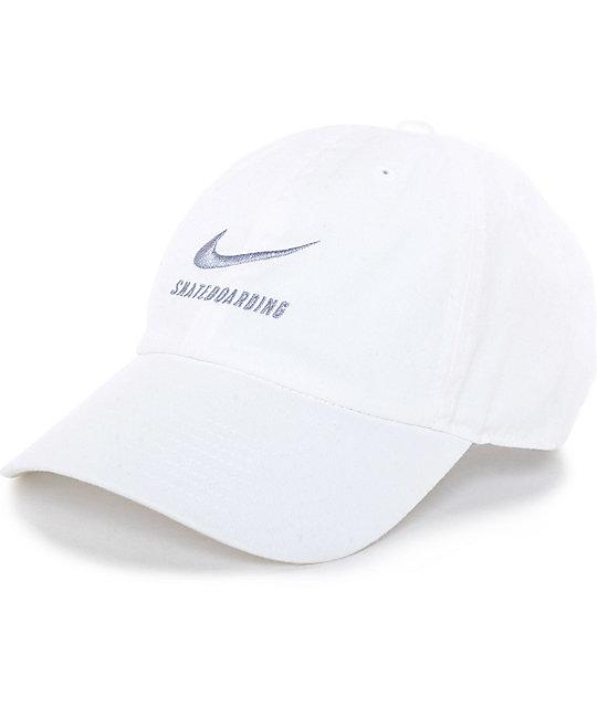 white nike baseball hat