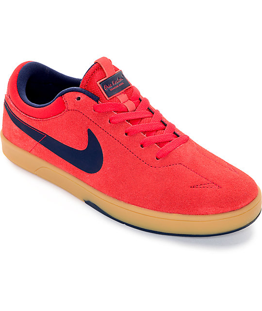 Nike SB Zoom Eric Koston University Red & Obsidian Skate Shoes