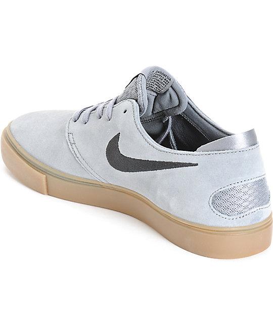 Nike Sb Zoom Oneshot Grey Gum Suede Skate Shoes