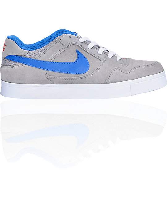 ... nike sb zoom p rod 2.5 grey blue suede skate shoes