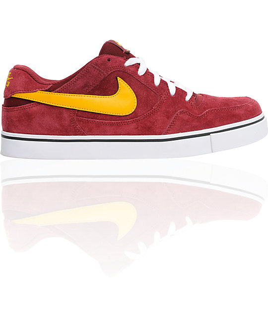 ... nike sb zoom p rod 2.5 team red yellow skate shoes