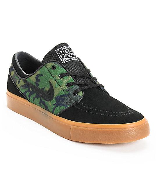 "Nike SB Zoom Stefan Janoski ""Jungle Camo"" & Black Shoe"