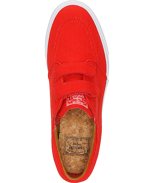 Nike SB Zoom Stefan Janoski AC Express University Red & White Skate Shoes