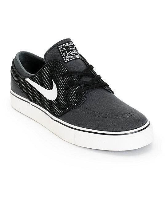 Nike SB Zoom Stefan Janoski Anthracite, Ivory, & Black Canvas Skate Shoes