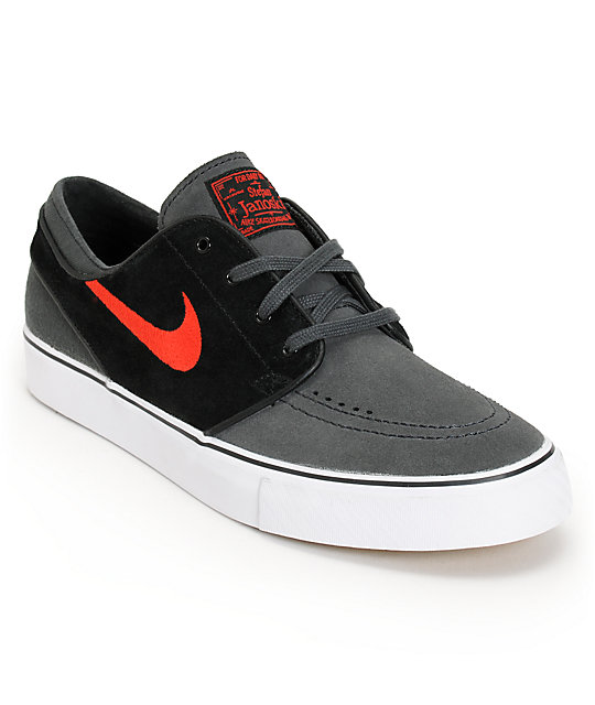 Nike SB Zoom Stefan Janoski Anthracite, University Red, & Black Shoes