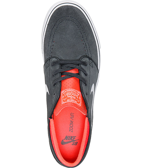 Nike SB Zoom Stefan Janoski Anthracite, White, & Lazer Crimson Skate Shoes