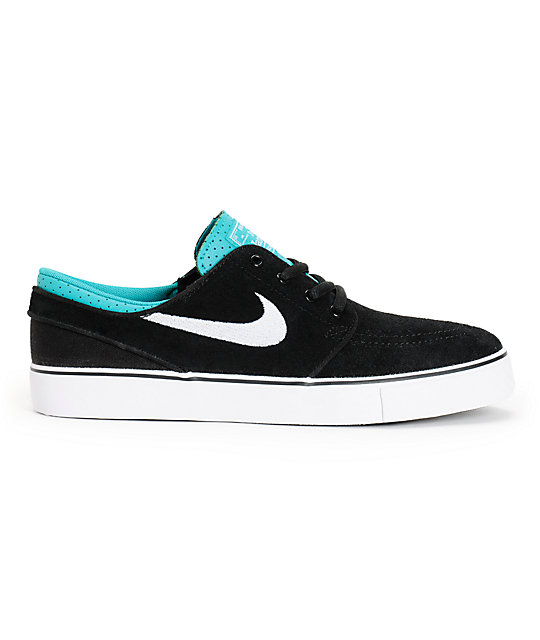 Nike SB Zoom Stefan Janoski Black & Turbo Green Boys Shoes