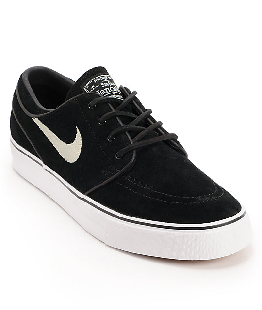 Nike SB Zoom Stefan Janoski Black Suede Shoes