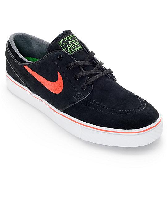 Nike SB Zoom Stefan Janoski Black and Crimson Suede Skate Shoes