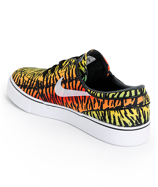 Nike SB Zoom Stefan Janoski Chilling Red, Lucid Green, & Turbo Yellow Shoes