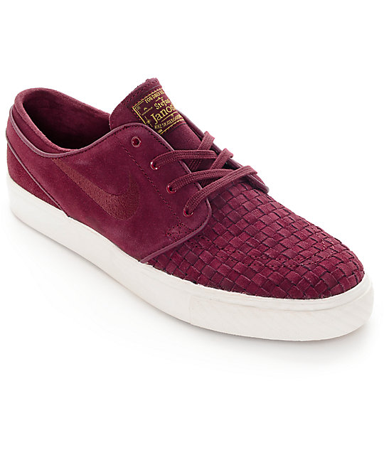 Nike SB Zoom Stefan Janoski Elite Night Maroon Skate Shoes