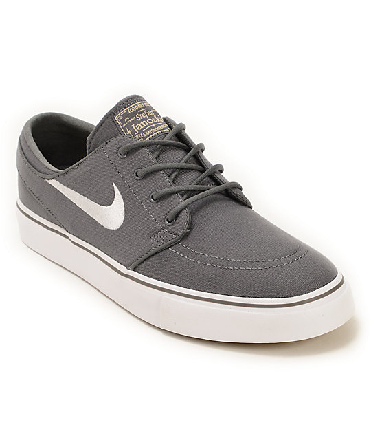 nike sb zoom stefan janoski grey white brown skate