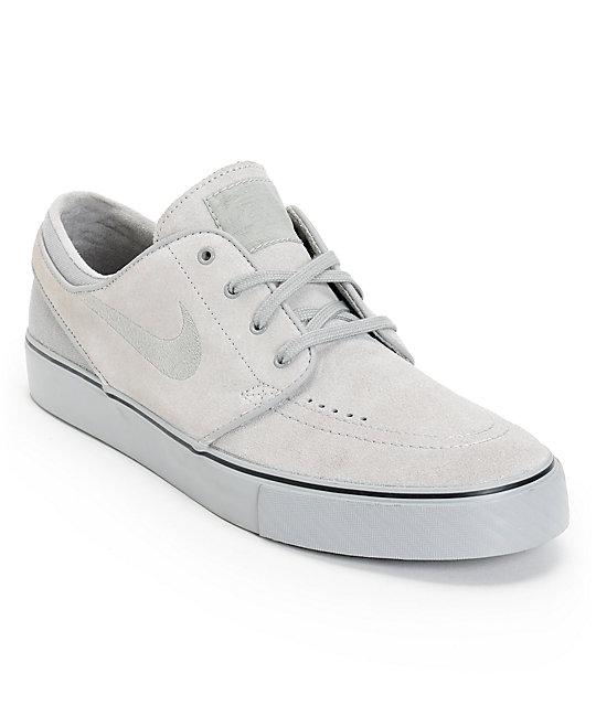 Nike SB Zoom Stefan Janoski Medium Grey, Medium Grey, & Medium Grey Skate Shoes