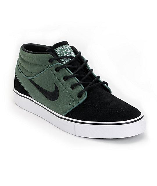 Nike SB Zoom Stefan Janoski Mid Nori & Black Suede Shoes