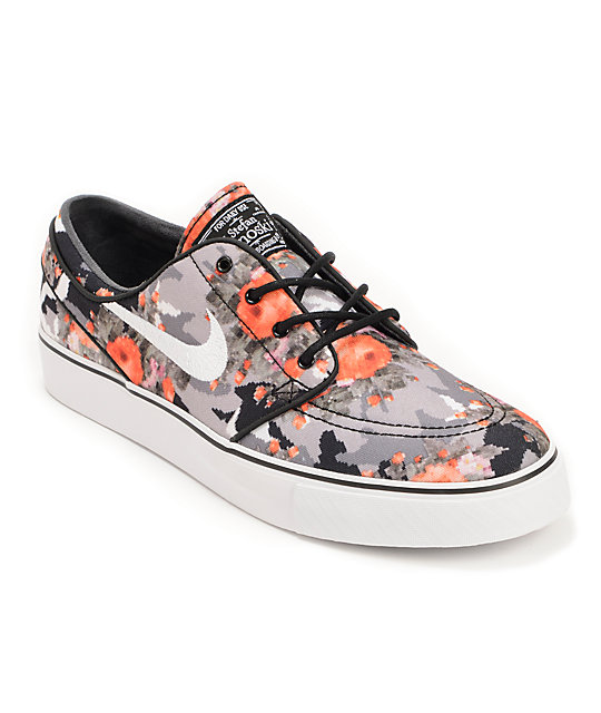 Nike SB Zoom Stefan Janoski Multi-Color, Black, & Mandarin Shoes