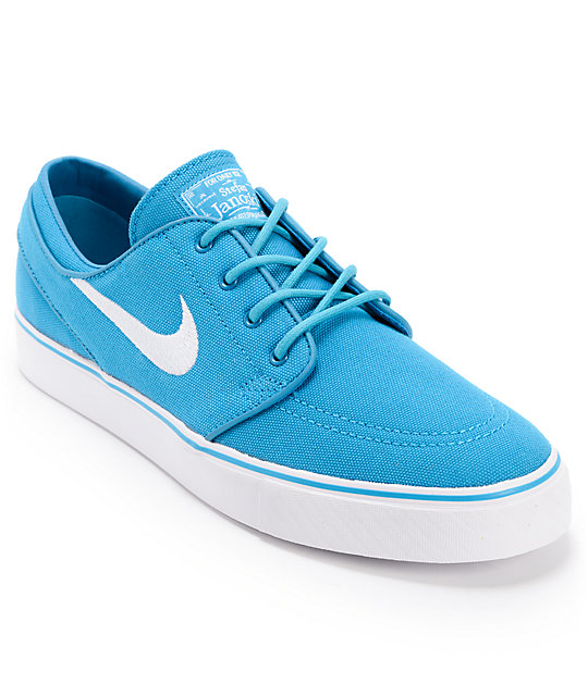 Nike SB Zoom Stefan Janoski Neo Turquoise & White Canvas Shoes
