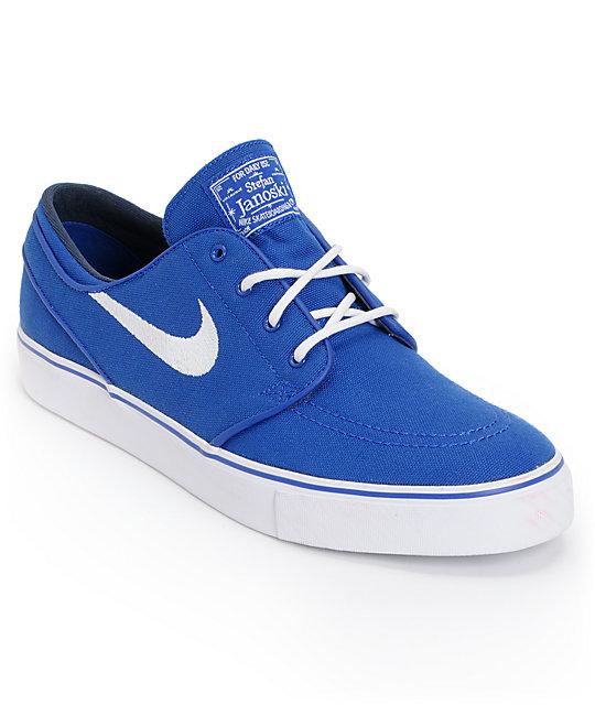 Nike SB Zoom Stefan Janoski Old Royal Blue & White Canvas Shoes