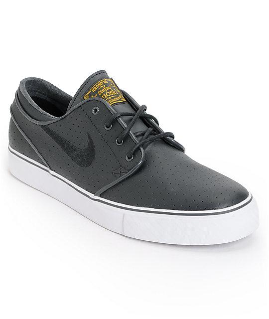 Nike SB Zoom Stefan Janoski Perforated Black & White Skate Shoes