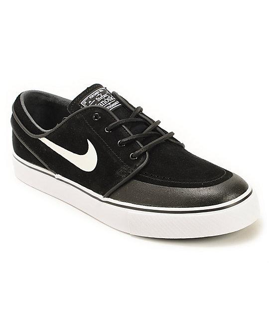 nike sb zoom stefan janoski premium se black white skate. Black Bedroom Furniture Sets. Home Design Ideas