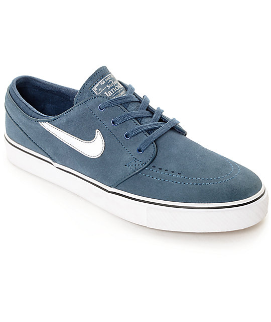 Nike SB Zoom Stefan Janoski Squadron Blue & White Skate Shoes