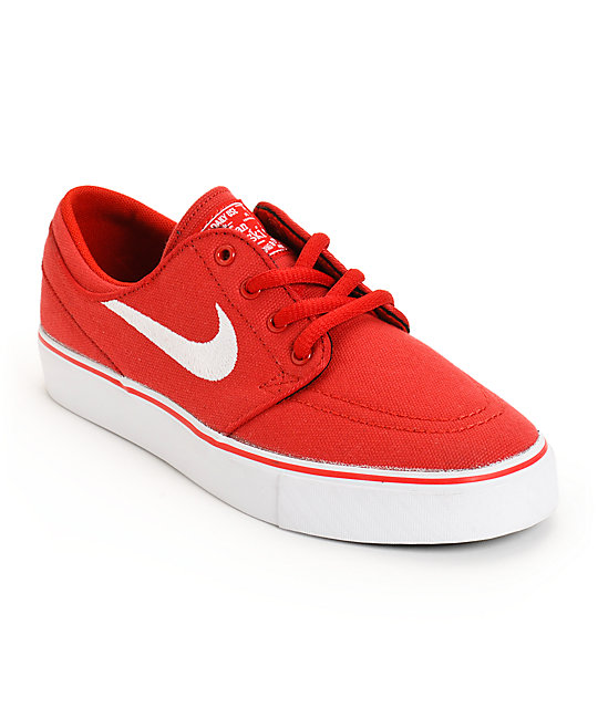 Nike SB Zoom Stefan Janoski Varsity Red & White Boys Skate Shoes ...