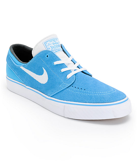 Nike SB Zoom Stefan Janoski Vivid Blue, White, & Black Skate Shoes