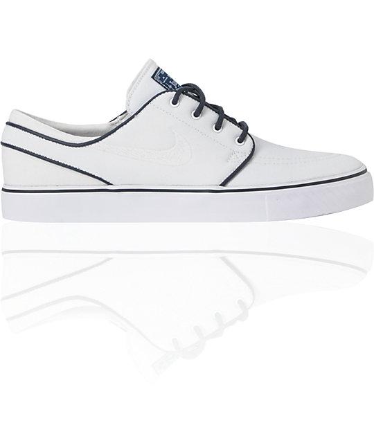 Nike SB Zoom Stefan Janoski White & White Obsidian Shoes