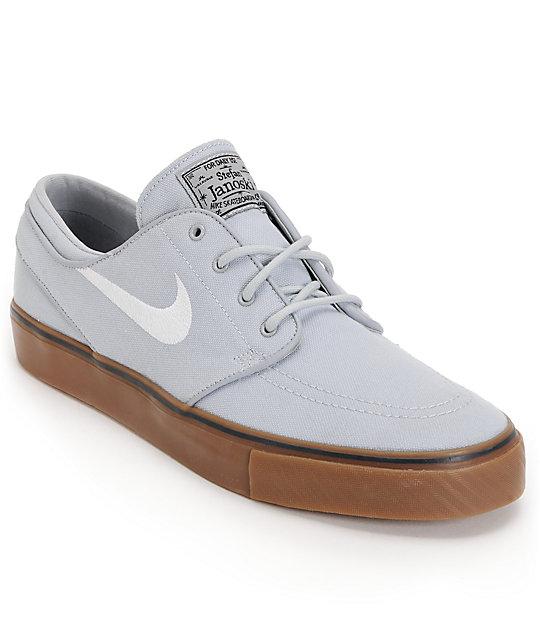 Nike SB Zoom Stefan Janoski Wolf Grey & Gum Shoes