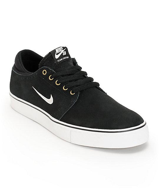 Nike SB Zoom Team Edition Black & White Skate Shoes